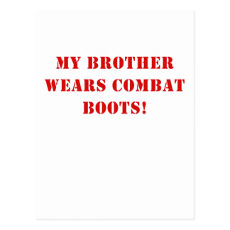 My Brother Wears Combat Boots Post Cards
