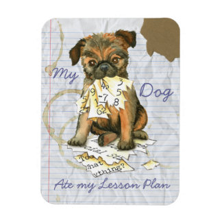 My Brussels Griffon Ate My Lesson Plan Rectangular Photo Magnet