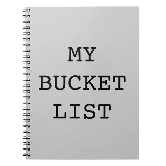 My Bucket List Notebook