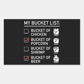 My Bucket List Rectangular Sticker