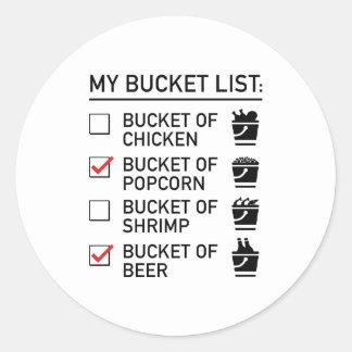 My Bucket List Round Sticker