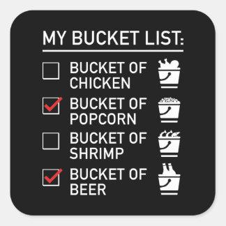 My Bucket List Square Sticker