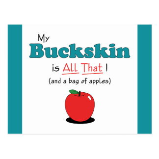 My Buckskin is All That! Funny Horse Postcard