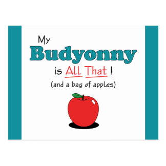 My Budyonny is All That! Funny Horse Postcard