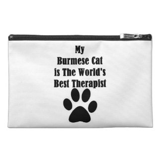 My Burmese Cat is The World Best Therapist Travel Accessory Bags