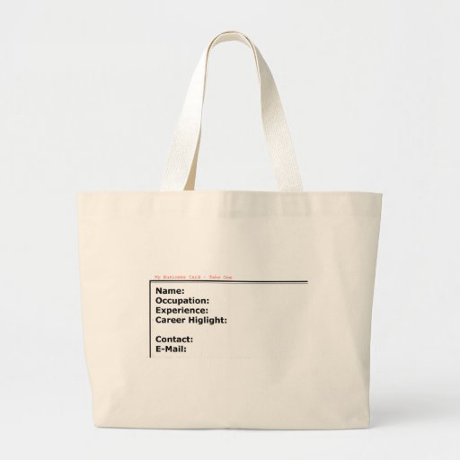 My Business Card White The MUSEUM Zazzle Gifts Tote Bag