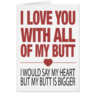 My Butt Greeting Card