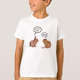 My Butt Hurts Bunnies Kids White T-Shirt