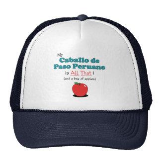 My Caballo de Paso Peruano is All That! Mesh Hats