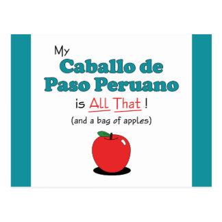 My Caballo de Paso Peruano is All That! Postcard