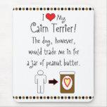 My Cairn Terrier Loves Peanut Butter Mouse Mats