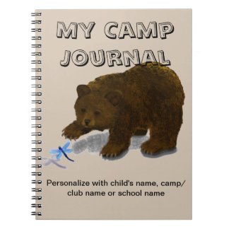 """My Camp Journal"" Spiral Custom Journal Notebook"