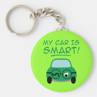 My Car Is Smart Basic Round Button Key Ring