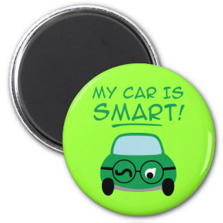 My Car Is Smart Refrigerator Magnet