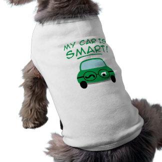 My Car Is Smart Sleeveless Dog Shirt