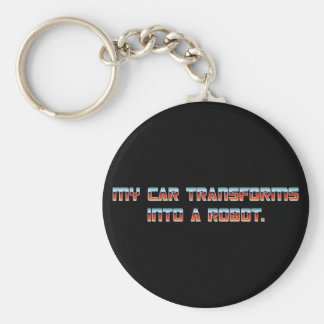 My Car Transforms into a Robot - KEYCHAIN! Key Ring