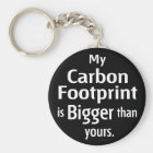 My Carbon Footprint is Bigger Than Yours (Black) Key Ring
