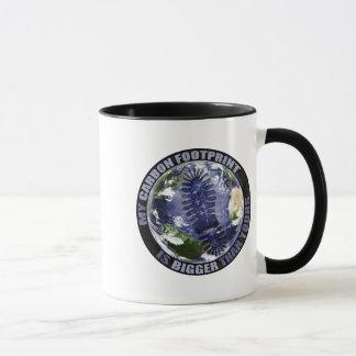 My carbon footprint is bigger than yours! mug
