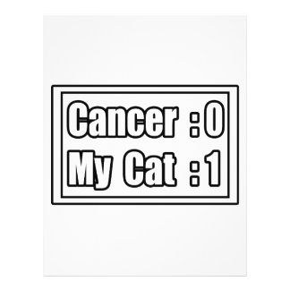My Cat Beat Cancer (Scoreboard) Full Color Flyer