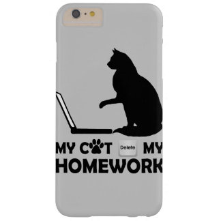 My cat deleted my homework barely there iPhone 6 plus case
