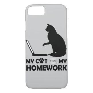 My cat deleted my homework iPhone 7 case
