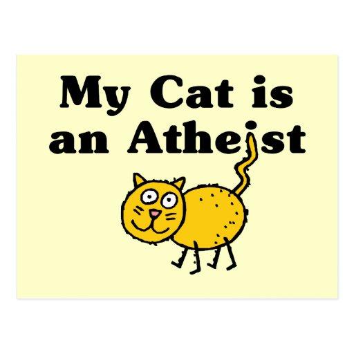 My Cat Is An Atheist Postcard