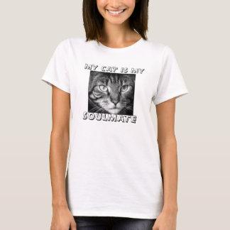 My Cat Is My Soulmate Ladies T Shirt