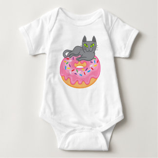 My cat loves doughnut baby bodysuit