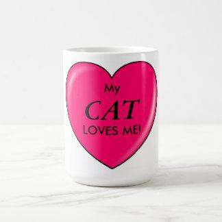 My CAT Loves Me! on a Coffee Mug