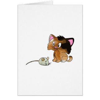 My Cat Loves Mice Greeting Card