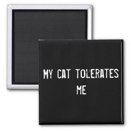 My cat tolerates me magnet
