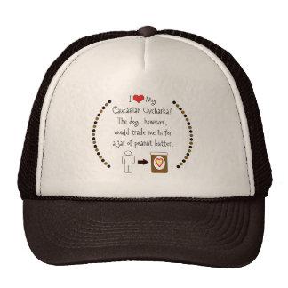 My Caucasian Ovcharka Loves Peanut Butter Mesh Hat