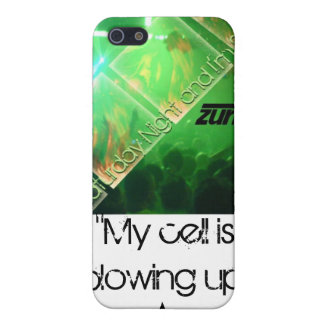 """My Cell is blowing up"" iPhone 5 Cover"