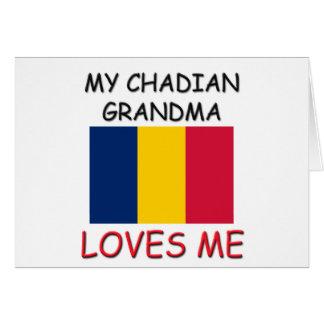 My Chadian Grandma Loves Me Greeting Card