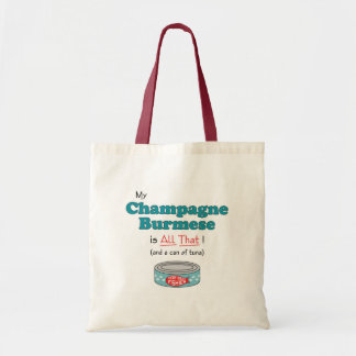 My Champagne Burmese is All That! Funny Kitty Canvas Bag