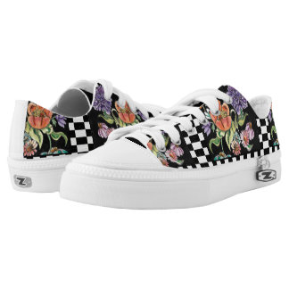 """""""My Checkered Garden"""" Low Top Tennies Printed Shoes"""