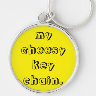 my cheesy key chain. Silver-Colored round key ring