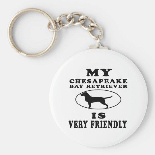 My Chesapeake Bay Retriever is very friendly Basic Round Button Key Ring