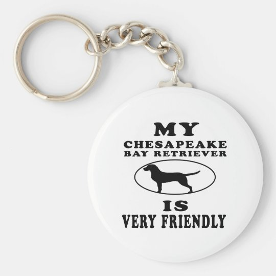 My Chesapeake Bay Retriever is very friendly Key Ring
