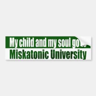 My Child Goes To Miskatonic Bumper Sticker