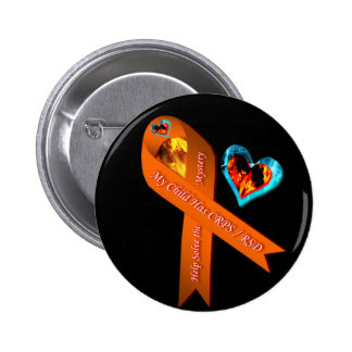 My Child Has CRPS RSD Fire Ice Hearts Pins