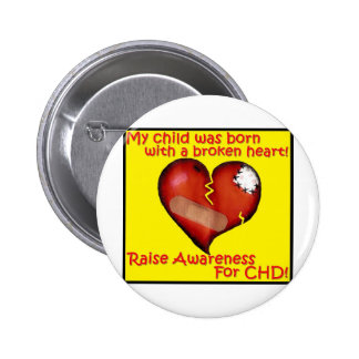 My Child Was Born With A Broken Heart 6 Cm Round Badge