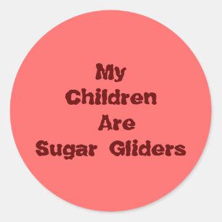 My Children Are Sugar Gliders Round Sticker