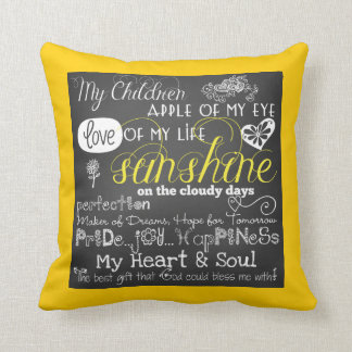 My Children Love and Inspiration Pillow