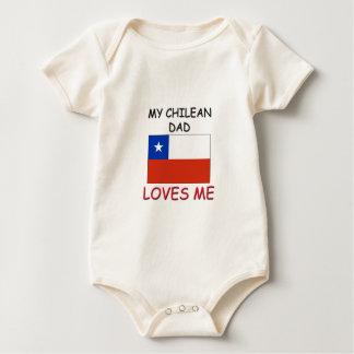 My CHILEAN DAD Loves Me Baby Bodysuit