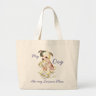 My Chinese Crested Ate My Lesson Plan Jumbo Tote Bag