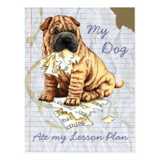 My Chinese Shar-Pei Ate My Lesson Plan Postcard