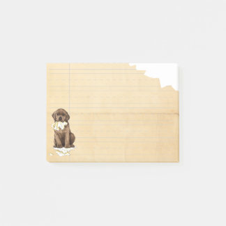 My Chocolate Lab Ate my Homework Post-it Notes