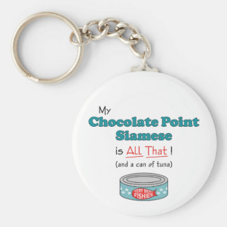 My Chocolate Point Siamese is All That! Key Ring