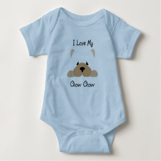 My Chow Chow Loves Me - baby one piece Baby Bodysuit